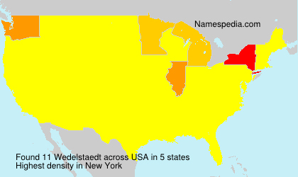 Surname Wedelstaedt in USA
