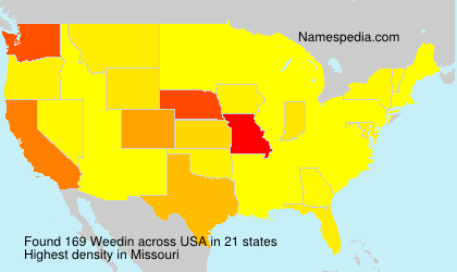 Surname Weedin in USA