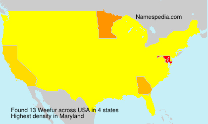 Surname Weefur in USA
