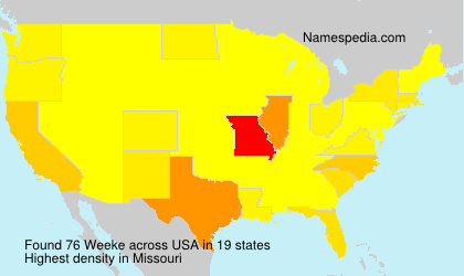 Surname Weeke in USA