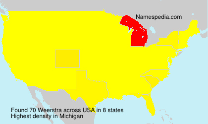 Surname Weerstra in USA