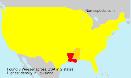 Surname Weeser in USA