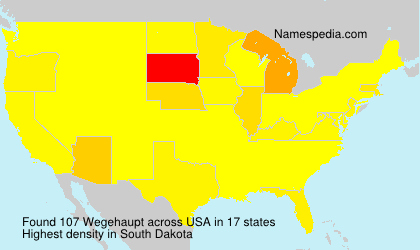 Surname Wegehaupt in USA