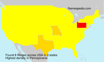 Surname Weges in USA