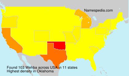 Familiennamen Wehba - USA