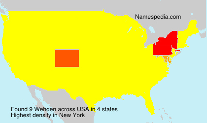 Surname Wehden in USA