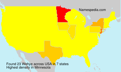 Surname Wehye in USA