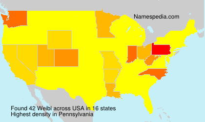 Surname Weibl in USA