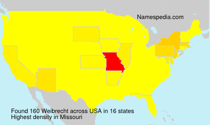Surname Weibrecht in USA