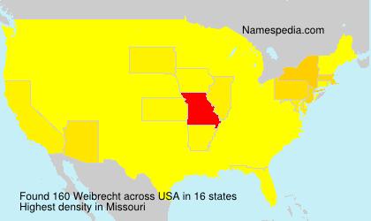 Surname Weibrecht in USA
