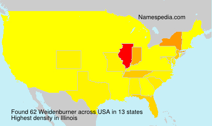 Surname Weidenburner in USA