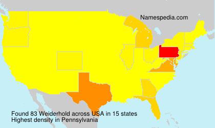 Surname Weiderhold in USA