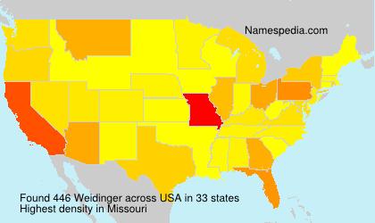 Familiennamen Weidinger - USA