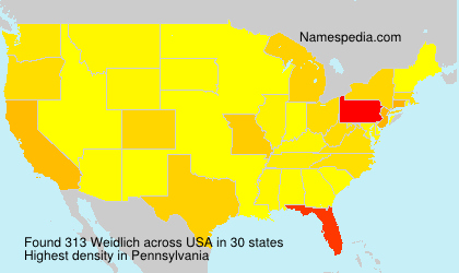 Surname Weidlich in USA