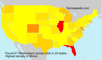 Surname Weiffenbach in USA