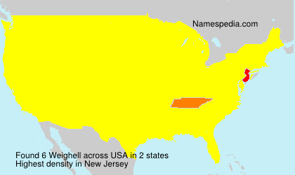 Surname Weighell in USA