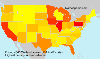 Surname Weiland in USA