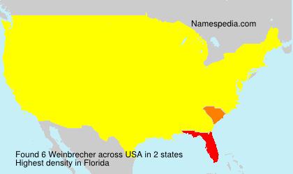 Surname Weinbrecher in USA