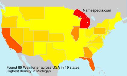 Familiennamen Weinfurter - USA