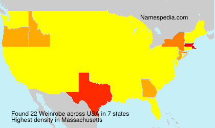 Surname Weinrobe in USA