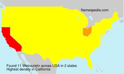 Surname Weinsziehr in USA