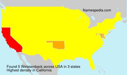 Surname Weissenback in USA