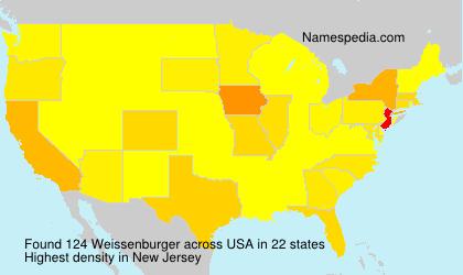 Familiennamen Weissenburger - USA
