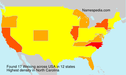 Surname Weixing in USA