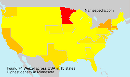 Surname Weizel in USA