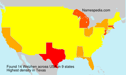 Familiennamen Weizhen - USA