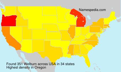 Familiennamen Welburn - USA