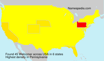 Surname Welcomer in USA