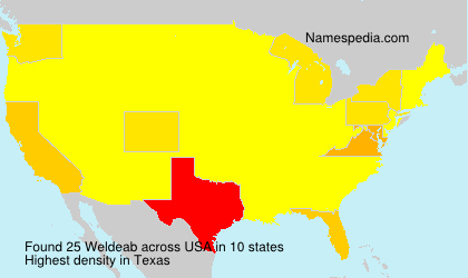 Surname Weldeab in USA
