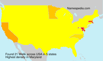 Surname Welik in USA