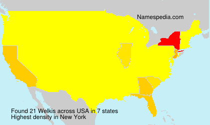 Surname Welkis in USA