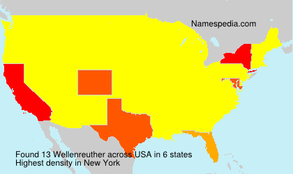 Surname Wellenreuther in USA