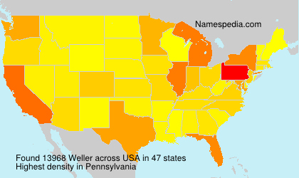 Surname Weller in USA