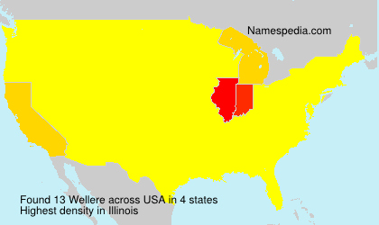 Surname Wellere in USA