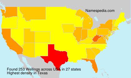Familiennamen Wellings - USA