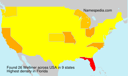 Surname Wellmer in USA