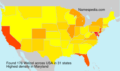 Surname Welzel in USA