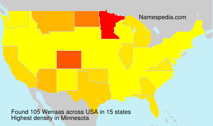 Surname Wenaas in USA