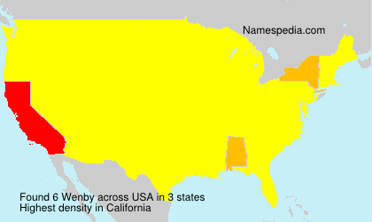 Surname Wenby in USA