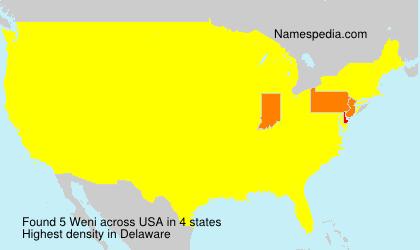 Familiennamen Weni - USA