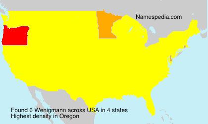 Familiennamen Wenigmann - USA