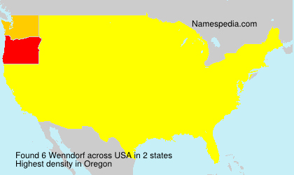 Surname Wenndorf in USA