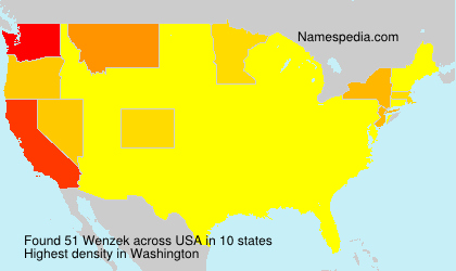 Surname Wenzek in USA