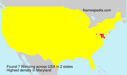 Surname Wenzing in USA