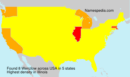 Surname Wenzlow in USA