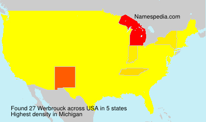 Surname Werbrouck in USA